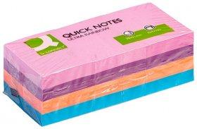 Notes samoprzylepny Q-Connect Brilliant, 38x51mm, 12x100 karteczek, mix kolorów neonowych