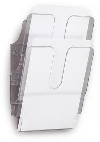 Pionowe pojemniki na dokumenty Flexiplus Durable, A4, 2 sztuki, przezroczysty