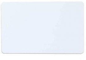 Karta plastikowa CR-80, 54x85.6mm, biały