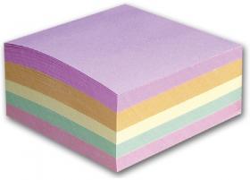 Kostka do notowania Barbara, nieklejona, 85x85mm, 400 kartek, mix kolorów pastelowych
