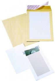 Koperta wzmacniana kartonem NC, C4, z paskiem HK, 200 sztuk, biały