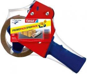 Podajnik z taśmą pakową Tesa Tape, 48mmx50m, czerwono-niebieski