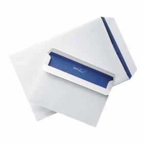 Koperta standardowa NC Super Mail, C5, z paskiem HK, 100g/m2,  niebieski poddruk, 400 sztuk, biały