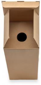 Karton wykrojnikowy na butelkę, 100x100x345mm, brązowy