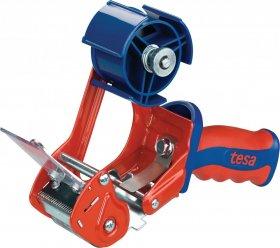 Podajnik do taśmy pakowej Tesa Comfort, 50mmx132m, czerwono-niebieski