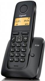 Telefon bezprzewodowy Siemens A120, czarny