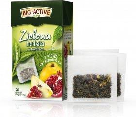 Herbata smakowa zielona w torebkach Big-Active, pigwa + granat, 20 sztuk x 1.7g