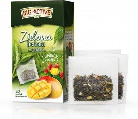 Herbata zielona smakowa w torebkach Big-Active, opuncja + mango, 20 sztuk x 1.7g