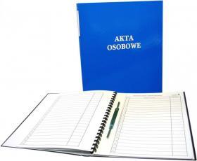 Teczka do akt osobowych Warta, A4, z bindą wewnętrzną, niebieski