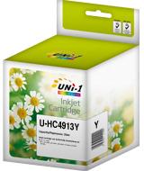Tusz UNi-1 U-HC4913Y (HP 82, C4913A), 72ml, yellow (żółty)