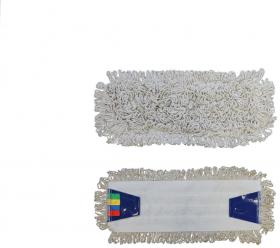 Mop płaski bawełniany z zakładkami Merida Economy, 40x11cm - końcówka