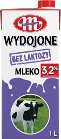 Mleko UHT Mlekovita Wydojone, bez laktozy, 3.2%, 1l