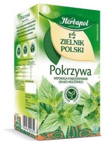 Herbata ziołowa w torebkach Herbapol Zielnik Polski, pokrzywa, 20 sztuk x 1.5g