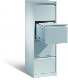 Szafa kartotekowa CP, metal, 1357x433x590mm, grubość blachy 0.8-1.0 mm, szary jasny