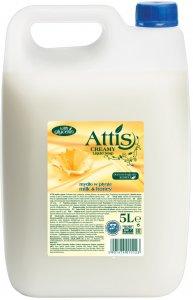 Mydło w płynie Attis Gold Drop Creamy mleko i miód, zapas, 5l (c)