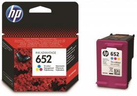 Tusz HP 652 F6V24AE, 5ml, 200 stron, cyan (błękitny), yellow (żółty), magenta ( purpurowy)