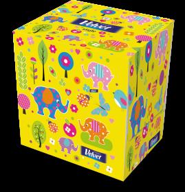 Chusteczki higieniczne Velvet, w kartoniku, 70 sztuk, mix kolorów
