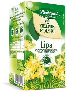 Herbata ziołowa w torebkach Herbapol Zielnik Polski, Lipa, 20 sztuk x 1.5g