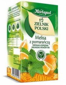 Herbata ziołowa owocowa w torebkach Herbapol Zielnik Polski, Melisa z pomarańczą, 20 sztuk x 1.75g