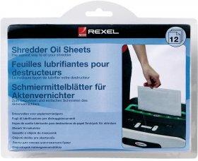 Arkusze olejowe do niszczarek Rexel, 12 sztuk