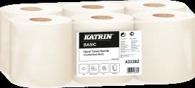Ręcznik papierowy Basic M Katrin, 1-warstwowy, w roli, 6x300m, 6 rolek, biały
