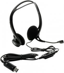 Słuchawki przewodowe z mikrofonem Logitech PC 960, czarny