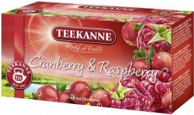 Herbata owocowa w kopertach Teekanne Cranberry&Raspberry, żurawina i malina, 20 sztuk x 2.25g