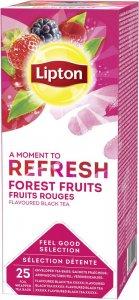 Herbata czarna smakowa w kopertach Lipton Classic, owoce leśne, 25 sztuk x 1.6g