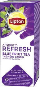 Herbata czarna smakowa w kopertach Lipton Classic, owoce jagodowe, 25 sztuk x 1.6g