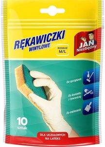 Rękawiczki winylowe Jan Niezbędny, rozmiar M/L, 10 sztuk (c)