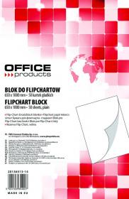 Blok do flipchartów Office Products, 65x100cm, gładki, 50 kart