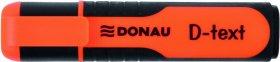 Zakreślacz fluorescencyjny Donau, D-Text, ścięta, pomarańczowy