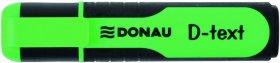 Zakreślacz fluorescencyjny Donau, D-Text, ścięta, zielony