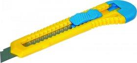 Nożyk z wymiennym ostrzem Donau, 18mm, żółto-niebieski