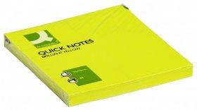 Notes samoprzylepny Q-connect Brilliant, 76x76mm, 75 karteczek, żółty neonowy