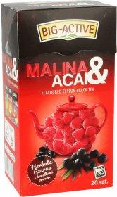 Herbata czarna aromatyzowana w torebkach Big-Active, malina+acai, 20 sztuk