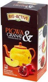 Herbata czarna aromatyzowana w torebkach Big-Active, pigwa+granat, 20 sztuk x 2g