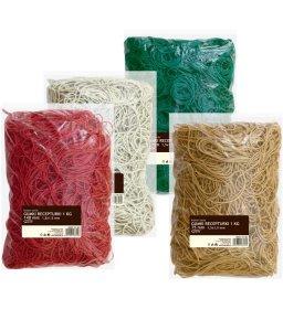 Gumki recepturki Grand, 100 mm, 1kg, mix kolorów