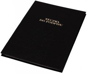 Teczka do podpisu Barbara, A4, 20 kartek, czarny