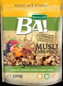 Musli chrupiące Bakalland, 5 bakalii, 300g
