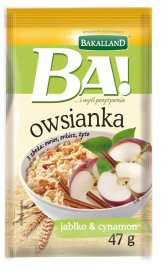 Owsianka z jabłkiem i cynamonem Bakalland, 47g