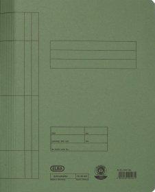 Skoroszyt kartonowy bez oczek Elba, A4, do 100 kartek, 250g/m2, zielony