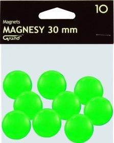 Magnesy Grand, 30mm, 10 sztuk, zielony