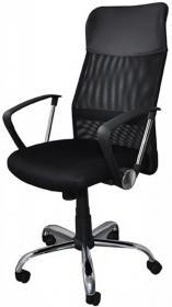 Fotel biurowy Office Products Corfu, tkanina membranowa/ekoskóra, czarny