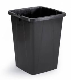 Pojemnik do segregacji odpadów Durabin, 90 l, czarny