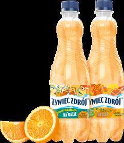 Woda smakowa gazowana Żywiec Zdrój, z sokiem, pomarańczowy, 0.5l