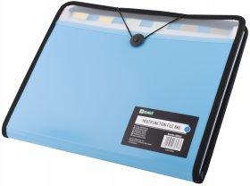 Teczka segregująca D.Rect W38965, A4, 7 przekładek, niebieski