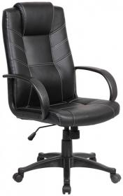 Fotel biurowy Office Products Corsica, ekoskóra, czarny