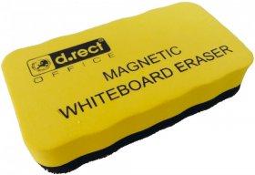 Gąbka magnetyczna D.Rect Eva, 51x106mm,  żółty