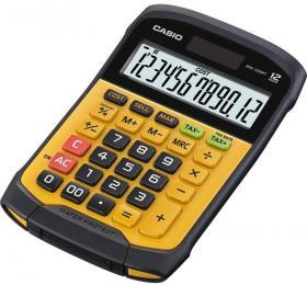 Kalkulator wodoodporny Casio WM-320MT, 12 cyfr, żółto-czarny